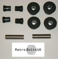 Rear Leaf Spring Shackle - Black Sport Polyurethane Bushes - MK2 Escort